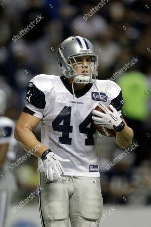 Chris Gronkowski Dallas Cowboys fullback Chris Gronkowski (44) at Cowboys training camp, in San Antonio