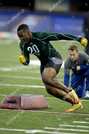 Simoni Lawrence Minnesota's Simoni Lawrence runs a drill at the NFL football scouting combine in Indianapolis