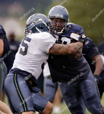 Editorial picture of Seahawks Camp Football, Renton, USA