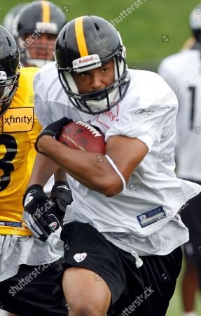 Brandon London Pittsburgh Steelers wide receiver Brandon London (15) at the NFL football team's training camp in Latrobe, Pa