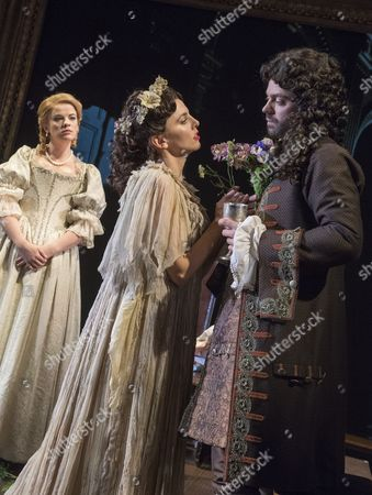 Alice Bailey Johnson as Elizabeth Malet, Ophelia Lovibond as Elizabeth Barry, Dominic Cooper as The Earl of Rochester,
