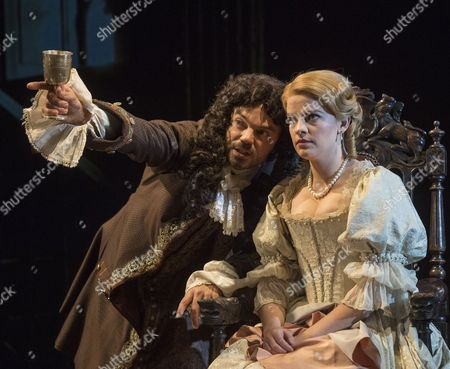Dominic Cooper as The Earl of Rochester, Alice Bailey Johnson as Elizabeth Malet