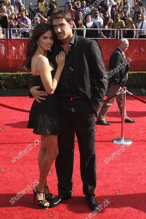 Adriana Lima; Marko Jaric Model Adriana Lima and Minnesota Timberwolves' Marko Jaric arrive at the ESPYs Awards on in Los Angeles