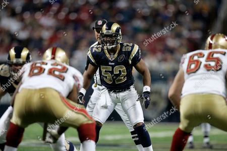 Chris Draft St. Louis Rams linebacker Chris Draft (52) takes up his position during the fourth quarter of an NFL football game against the San Francisco 49ers, in St. Louis. The 49ers won 17-16