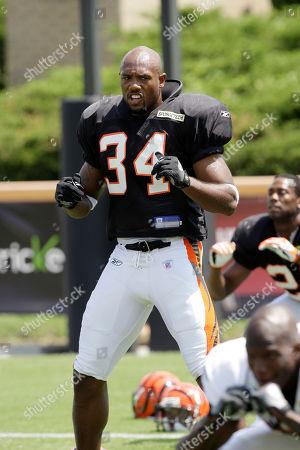 Kyries Hebert Cincinnati Bengals safety Kyries Hebert during practice at their NFL football training camp, in Georgetown, Ky