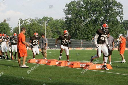 Bret Lockett Cleveland Browns defensive back Bret Lockett (39) runs drills at the Cleveland Browns NFL football training camp, in Berea, Ohio