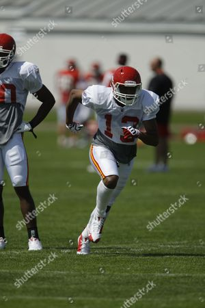 Amani Toomer Kansas City Chiefs wide receiver Amani Toomer (13) during NFL football training camp in River Falls, Wis