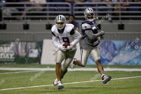Miles Austin, DeAngelo Smith Dallas Cowboys' Miles Austin, left, and DeAngelo Smith, right, during the team's NFL football training camp in San Antonio