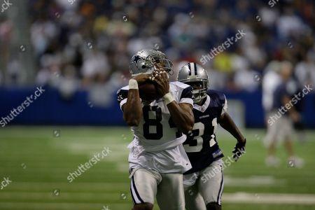 Patrick Crayton, DeAngelo Smith Dallas Cowboys' Patrick Crayton (84) and DeAngelo Smith (31) during the team's NFL football training camp in San Antonio
