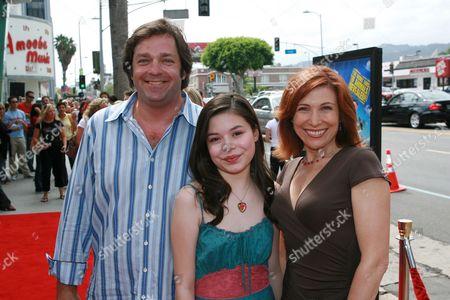 Jonathan Goldstein, Miranda Cosgrove and Nancy Sullivan