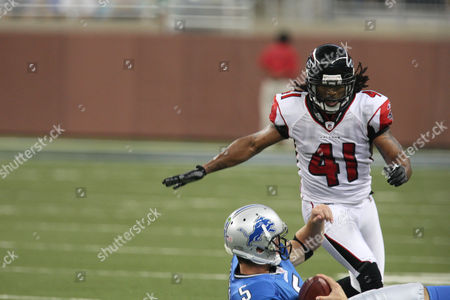 Antoine Harris Atlanta Falcons safety Antoine Harris (41) is seen during an NFL exhibition game at Ford Field in Detroit