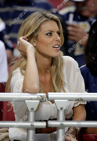 Carrie Prejean Former Miss California Carrie Prejean sits in the stands during the first quarter of a preseason NFL football game between the St. Louis Rams and Atlanta Falcons, in St. Louis