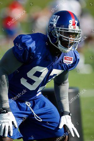 Clint Sintim New York Giants linebacker Clint Sintim during NFL football training camp in Albany, N.Y