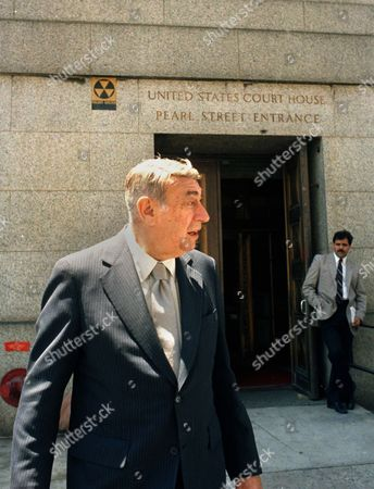 Stock Image of Howard Cosell Howard Cosell, leaves the United States Court House in New York after testifying at the USFL-NFL antitrust suit trial. Cosell said during the trial he had been told by his former boss, Roone Arledge, who ran ABC's sports and news division, that NFL Commissioner Pete Rozelle was unhappy with the network for giving the USFL a television contract