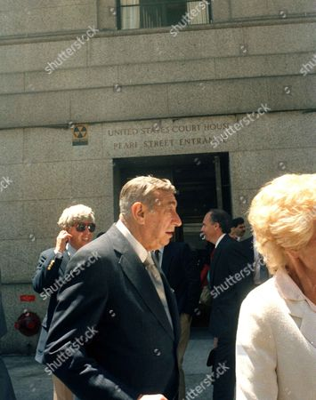 Stock Photo of Howard Cosell Howard Cosell, leaves the United States Court House in New York after testifying at the USFL-NFL antitrust suit trial. Cosell said during the trial he had been told by his former boss, Roone Arledge, who ran ABC's sports and news division, that NFL Commissioner Pete Rozelle was unhappy with the network for giving the USFL a television contract