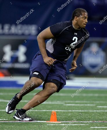 William Beatty Connecticut offensive lineman William Beatty runs a drill at the NFL Scouting Combine in Indianapolis