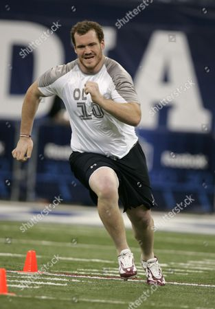 Editorial picture of NFL Combine Football, Indianapolis, USA.