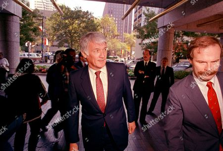 Executive director of the NFL Management Council Jack Dolan arrives at the Four Seasons Hotel in Philadelphia, where he is to meet with NFL Players Association director Gene Upshaw as negotiations continue in the day-old NFL players' strike