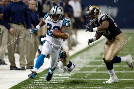 Steve Smith, Jon Beason Carolina Panthers wide receiver Steve Smith (89) eludes St. Louis Rams Chris Draft, right, during an NFL football game, in St. Louis. The Panthers won the game, 27-13