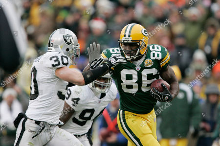 Editorial picture of Raiders Packers Football, Green Bay, USA