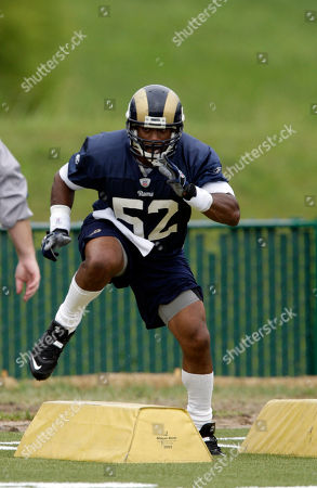 Chris Draft St. Louis Rams linebacker Chris Draft participates in drills during NFL football training camp, at the Rams' training facility in St. Louis