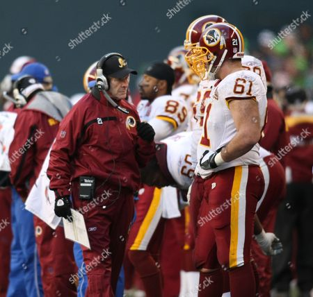 Joe Bugel Washington Redskins assistant coach-offense, Joe Bugel, is shown on the sideline during an NFL football wildcard playoff football game against the Seattle Seahawks, at Qwest Field in Seattle