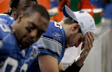 Dan Orlovksy Detroit Lions quarterback Dan Orlovsky, right, sitting next to tight end John Owens, left, sits on the bench during the third quarter of an NFL football game against the New Orleans Saints at Ford Field in Detroit