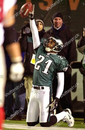 Philadelphia Eagles Bobby Taylor celebrates after returning an interception for a touchdown against the Atlanta Falcons in the first half of their divisional playoff game at Veterans Stadium in Philadelphia, Pa., in this photo. Former Pro Bowl cornerback Bobby Taylor has agreed to a four-year contract with the Seattle Seahawks. Taylor, who spent all nine of his NFL seasons with the Eagles, replaces Shawn Springs, who signed with the Washington Redskins earlier this month
