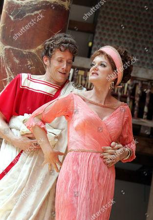 Comedy of Errors - Andrew Havill ( Antipholus of Syracuse ) and Sarah Woodward ( Adriana )