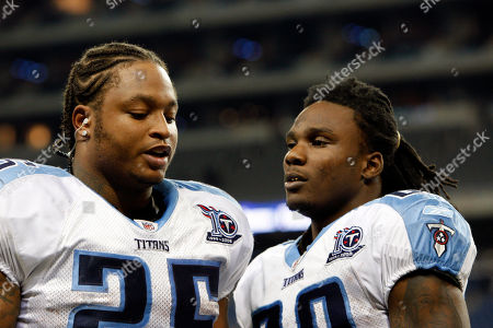 LenDale White, Chris Johnson Tennessee Titans running backs LenDale White, left, and Chris Johnson wait for an interview after their NFL football game against the Detroit Lions in Detroit, . Tennessee won 47-10