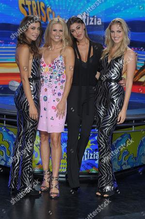 Irene Cioni, Ludovica Frasca, Belen Rodriguez and Michelle Hunziker