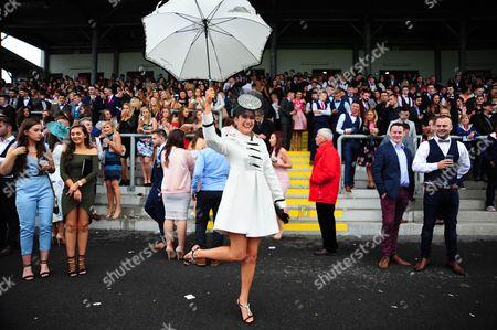 SLIGO. Student Race day at the County Sligo venue with Rachel Robinson from Roscommon enjoying the racing.