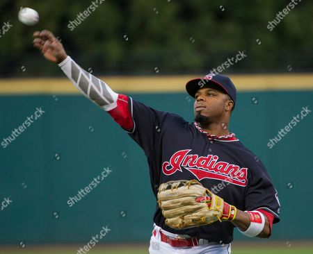 Rajai Davis Cleveland Indians' Rajai Davis warms up before a baseball game in Cleveland