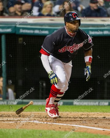 Rajai Davis Cleveland Indians' Rajai Davis heads to first base after hitting a single off Chicago White Sox starting pitcher Jose Quintana during the second inning of a baseball game in Cleveland