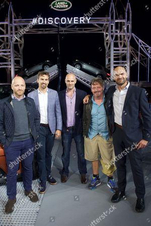 Ben Saunders, Kenton Cool, Ed Stafford, Charley Boorman and Monty Halls