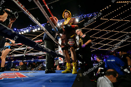 Editorial picture of Ajtai Shiming Boxing, New York, USA