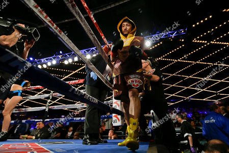 Jozsef Ajtai, Zou Shiming Zou Shiming, of China, steps into the right for a WBO flyweight title boxing match against Jozef Ajtai, of Hungary, in New York. Zou Shiming, of China, won the fight