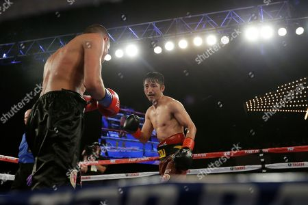 Jozsef Ajtai, Zou Shiming Zou Shiming, of China, right, fights Jozef Ajtai, of Hungary, during the ninth round of a WBO flyweight title boxing match, in New York. Zou Shiming, of China, won the fight