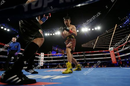 Jozsef Ajtai, Zou Shiming Zou Shiming, of China, fights Jozef Ajtai, of Hungary, during the first round of a WBO flyweight title boxing match, in New York. Zou Shiming, of China, won the fight