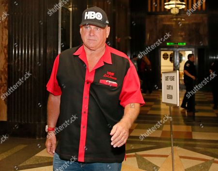"""Dennis Hof Dennis Hof, owner of the Moonlite BunnyRanch, a legal brothel near Carson City, Nevada, walks in a courthouse hallway during a break in the trial of Denny Edward Phillips and Russell Lee Hogshooter, in Oklahoma City, . Phillips and Hogshooter are charged with six counts of first-degree murder and one count of conspiracy in the deaths of Brooke Phillips, Milagros Barrera, Jennifer Lynn Ermey and Casey Mark Barrientos. The other two murder charges are because Brooke Phillips and Barrerra were pregnant. Brooke Phillips, no relation to Denny Edward Phillips, was a prostitute featured on the HBO series """"Cathouse"""