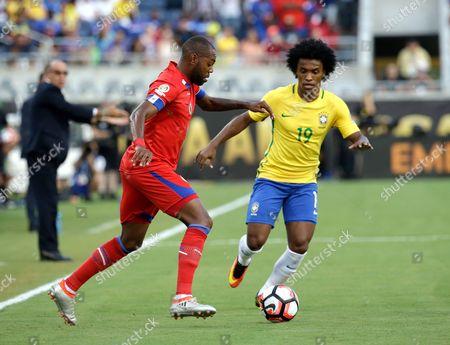 Editorial photo of Copa America Centenario Soccer Brazil Haiti, Orlando, USA