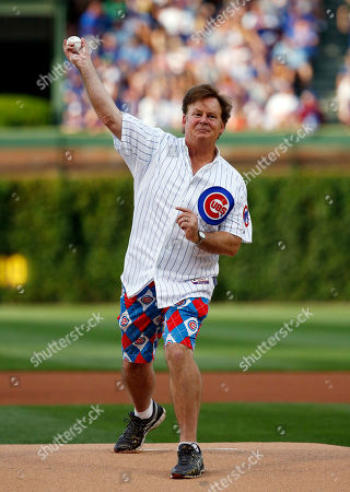 Joel Murray Actor Joel Murray throws out a ceremonial first pitch before a baseball game between the Pittsburgh Pirates and the Chicago Cubs, in Chicago