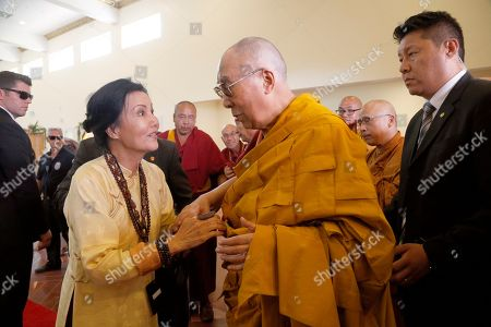 Kieu Chinh, Dalai Lama Vietnamese American actress Kieu Chinh, left, meets with exiled Tibetan leader Dalai Lama at the Chua Dieu Ngu Vietnamese Buddhist temple in Westminster, Calif., on