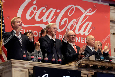 John Brock, Jeffrey Sprecher Coca-Cola European Partners CEO John Brock, second from right, and Jeffrey Sprecher, right, Chairman and CEO of Intercontinental Exchange and Chairman of the New York Stock Exchange, join the applause as Brock rings the New York Stock Exchange opening bell