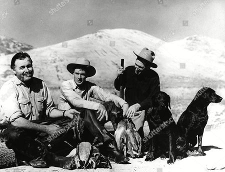 Editorial picture of HEMINGWAY AND GARY COOPER (UNDATED), SUN VALLEY, USA