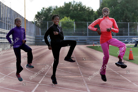 Tai Sheppard, Rainn Sheppard, Brooke Sheppard Brooke Sheppard, 8, Rainn Sheppard, 10, and Tai Sheppard, 11, left to right, do warm-up drills before workouts at Boys and Girls High School, in the Brooklyn borough of New York. Every morning, the three young sisters wake up together with their mom in one bed in a Brooklyn homeless shelter. Every afternoon, they train in a sport that they hope will put them on a path to a better life. The girls have blossomed since taking up track and field just a year and a half ago, and earned top youth track rankings and a spot in this week's Junior Olympics