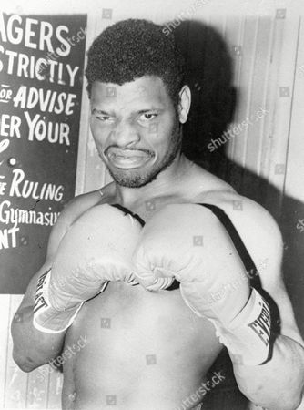 Olympic Boxer Leon Spinks is pictured in this undated posed action photo