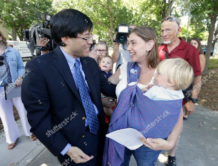 Richard Pan, Leah Russin, Leo Russin California state Sen. Richard Pan, D-Sacramento, is thanked by Leah Russin, holding her 21-month-old son, Leo, 2, after Pan's bill requiring nearly all school children to be vaccinated was signed by Gov. Jerry Brown. The bill, SB277, by Pan and Sen. Ben Allen, D-Santa Monica, was introduced after a measles outbreak at Disneyland and will take effect