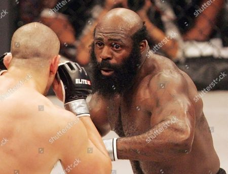 Kimbo Slice, James Thompson Kimbo Slice, right, battles James Thompson of Manchester, England during their EliteXC heavyweight bout at the Prudential Center in Newark, N.J. Kimbo Slice, the bearded street fighter who parlayed his internet popularity into a mixed martial arts career and worldwide fame, has died. He was 42. Slice, whose real name was Kevin Ferguson, was taken to a hospital in Margate, Florida, near his home, Coral Springs Police Sgt. Carla Kmiotek said. Slice's death was confirmed by Mike Imber, his longtime manager