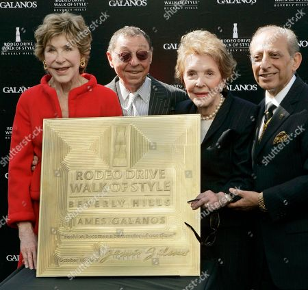 James Galanos, Nancy Reagan, Betsy Bloomingdale, Jimmy Delshad Celebrated fashion designer James Galanos, second from left, is joined by Betsy Bloomingdale, left, former first lady Nancy Reagan and Mayor Jimmy Delshad, as Galanos is honored with the Rodeo Drive Walk of Style Award in Beverly Hills, Calif. Betsy Bloomingdale, the widow of a department store heir who hobnobbed with the world's elite and was best friends with Nancy Reagan, has died. She was 93. Her daughter-in-law says Bloomingdale died, at her Los Angeles home from congestive heart failure